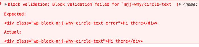 Block validation: Block validation failed for `mjj-why/circle-text` ({name: